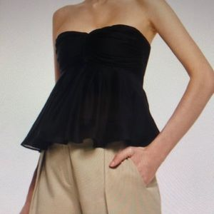 L'agence strapless bustier top blouse